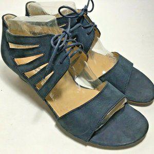 PAUL GREEN Munchen shoes sz 9 blue suede open toe